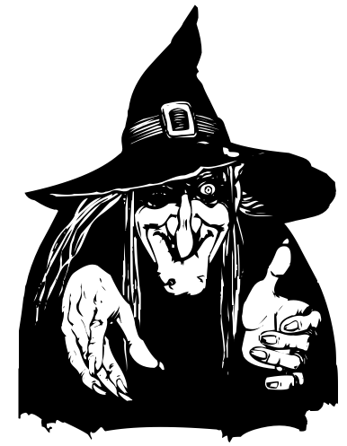 With evil eye halloween. Witch clipart bad witch