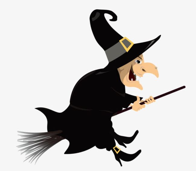 Evil png broom cartoon. Witch clipart bad witch