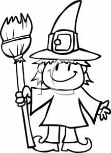 Witch clipart black and white. Panda free