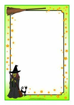 And wizard themed a. Witch clipart border