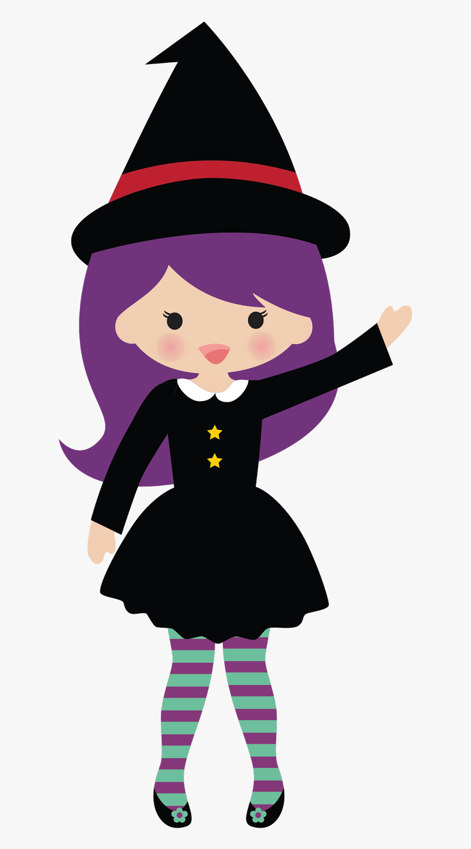 Witch clipart cartoon. Cute halloween cliparts