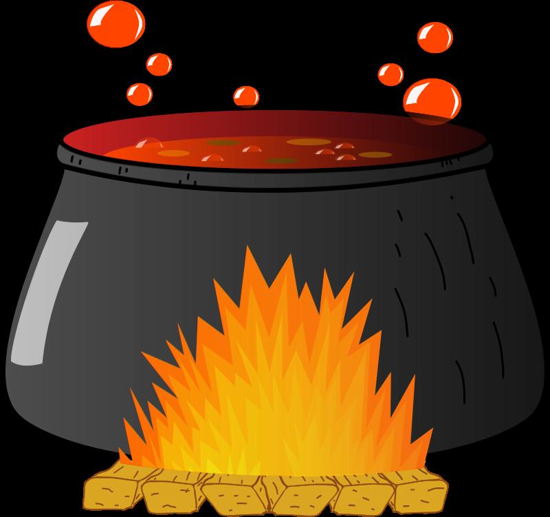 Bubbling medium image png. Witch clipart cauldron