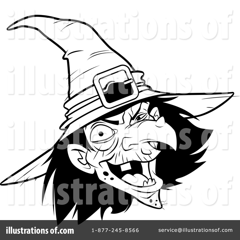 Witch clipart christmas. Illustration by lawrence
