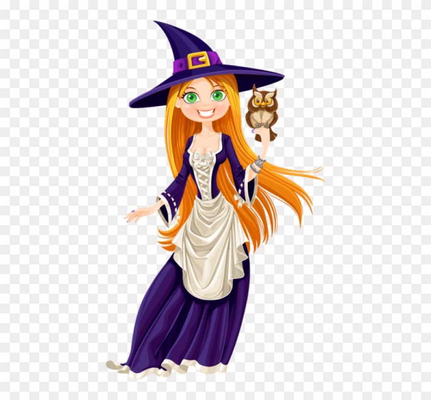 Witch clipart clear background. Free png halloween with