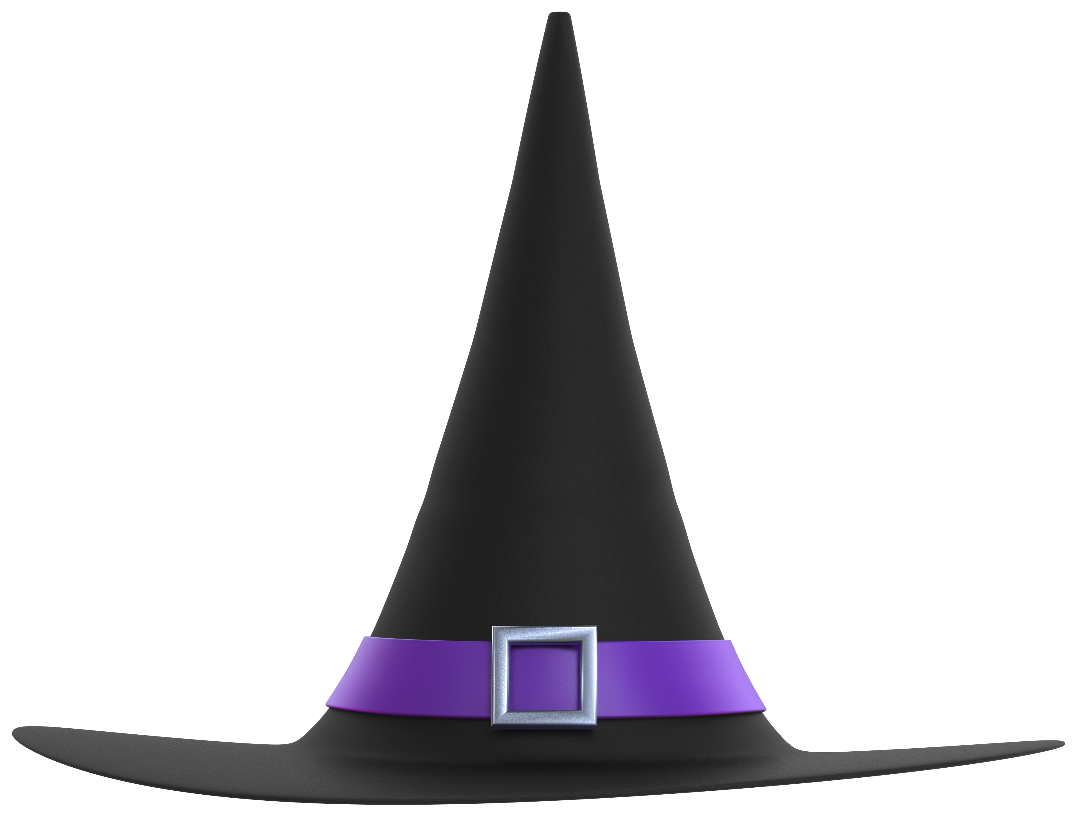 Black and purple hat. Witch clipart clear background