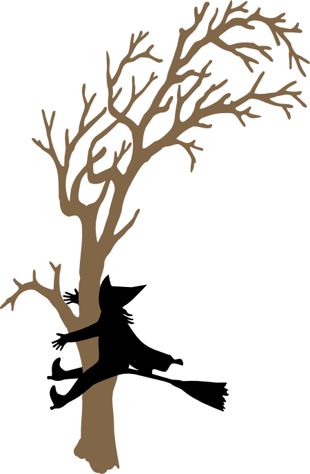 Witch clipart crashed. Crash silhouette svg witches