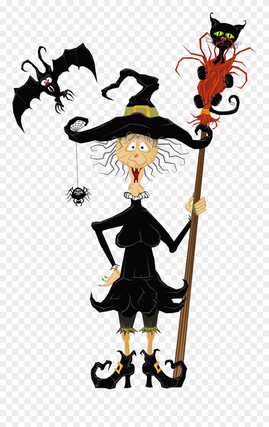 Witch clipart creepy. Halloween clip art