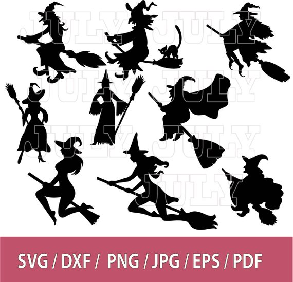 Witch clipart dragon. Svg silhouette halloween