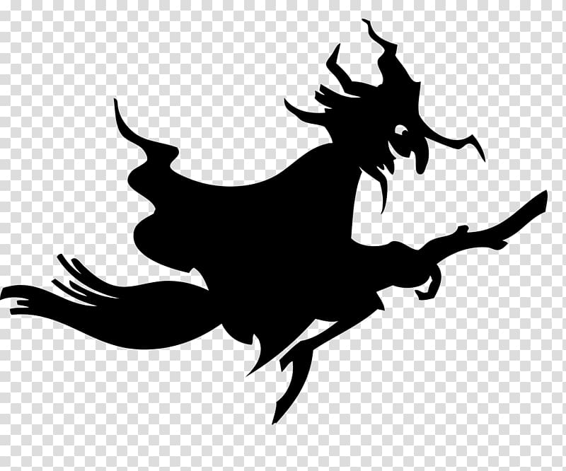 Witchcraft halloween illustration transparent. Witch clipart dragon