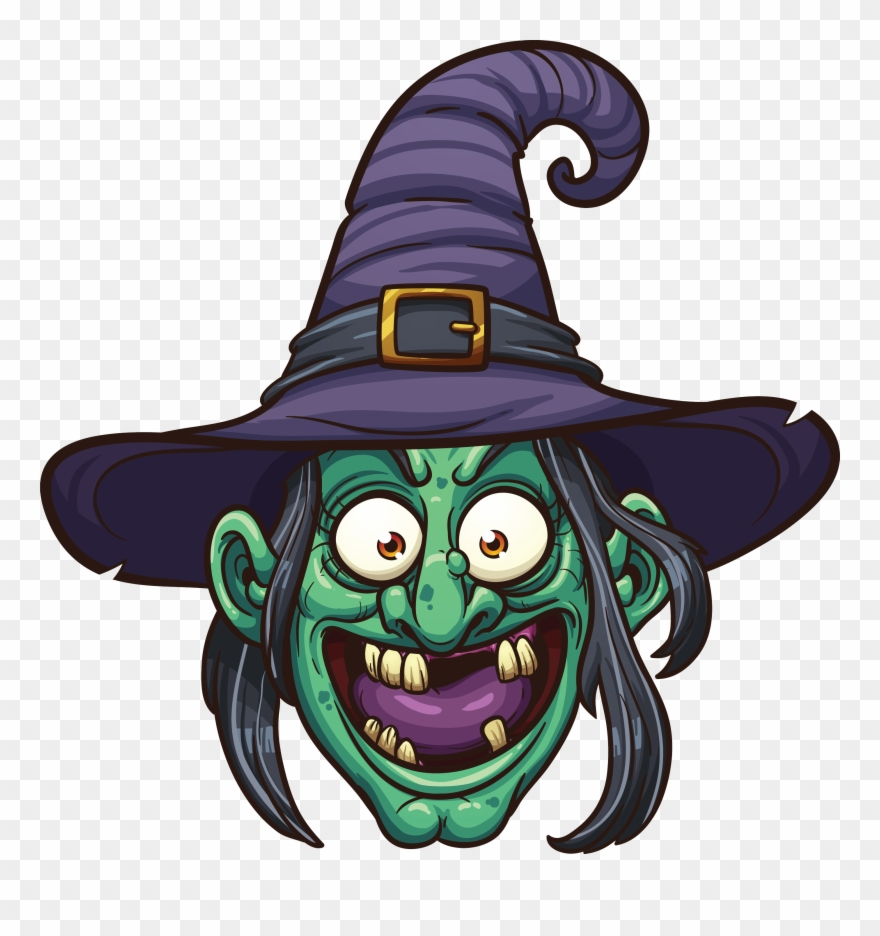 Png halloween cartoon . Witch clipart face