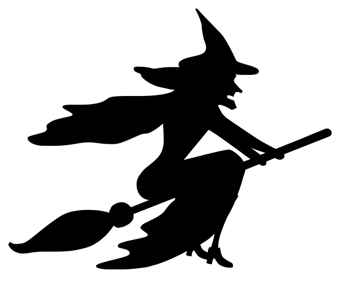 Kid halloween cards . Witch clipart flying witch