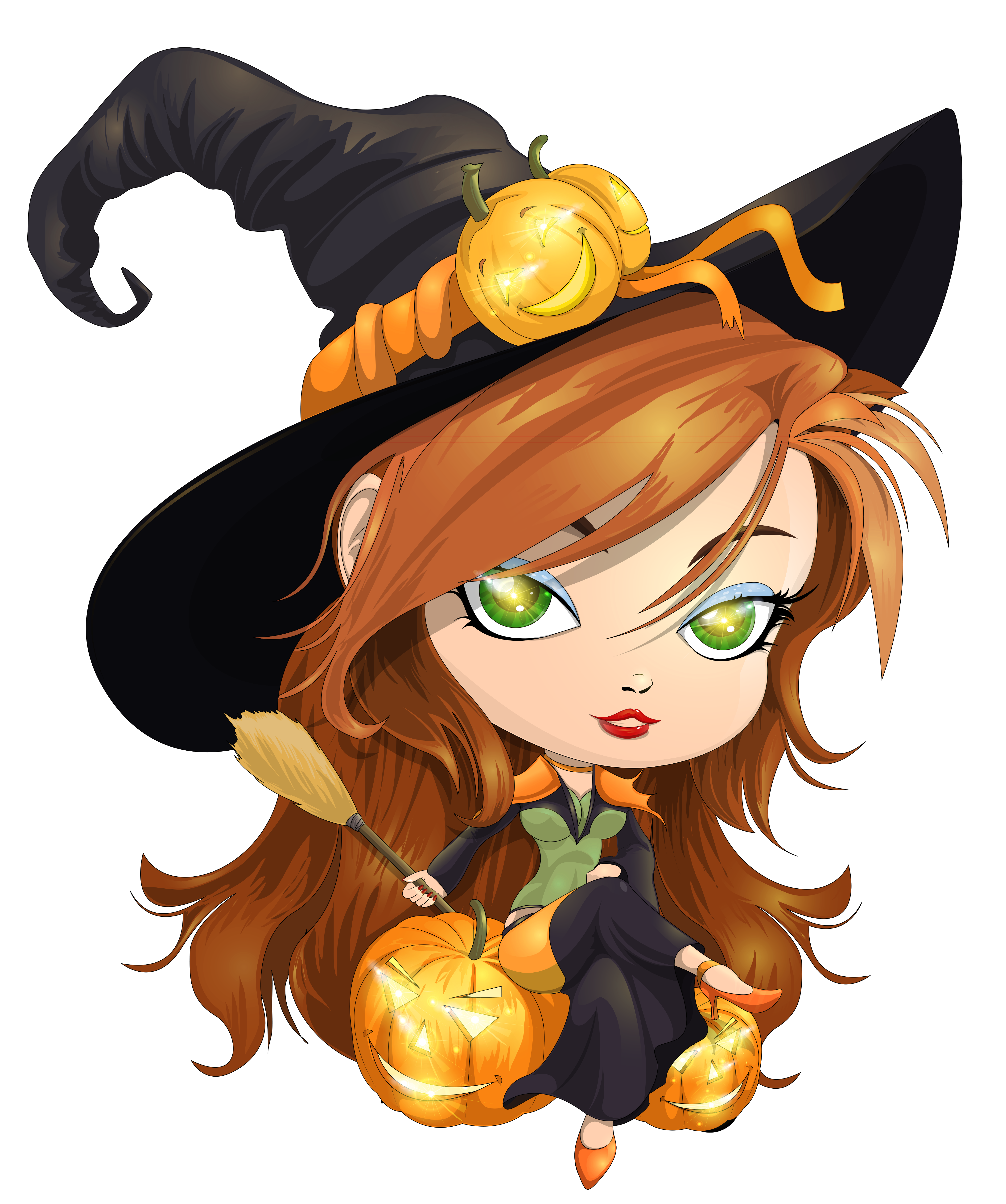 Witch clipart flying witch. Cute transparent picture png