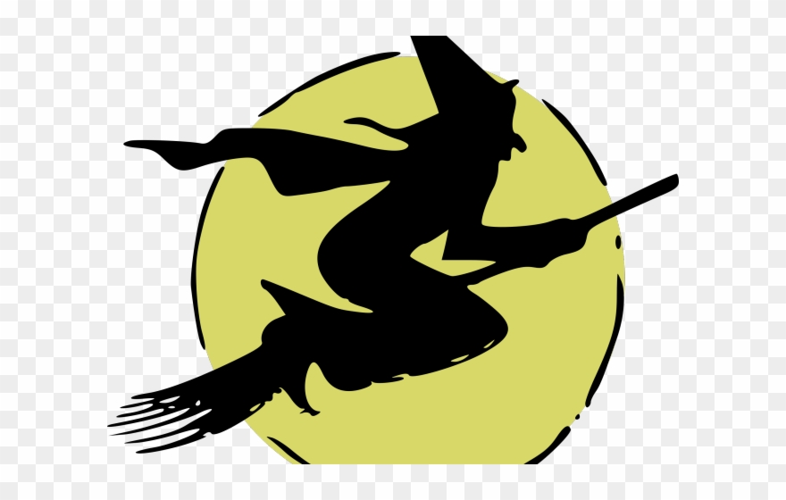 Witch clipart flying witch. Clip art png