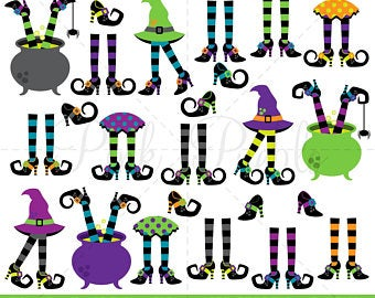 Witch clipart foot. Witches feet etsy