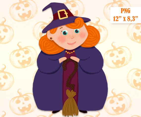 Halloween scrapbooking decor cute. Witch clipart good witch