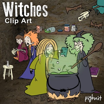 Witches macbeth clip art. Witch clipart halloween book