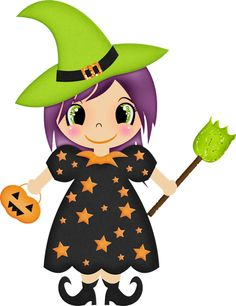 Witch clipart halloween book. Cute free download best