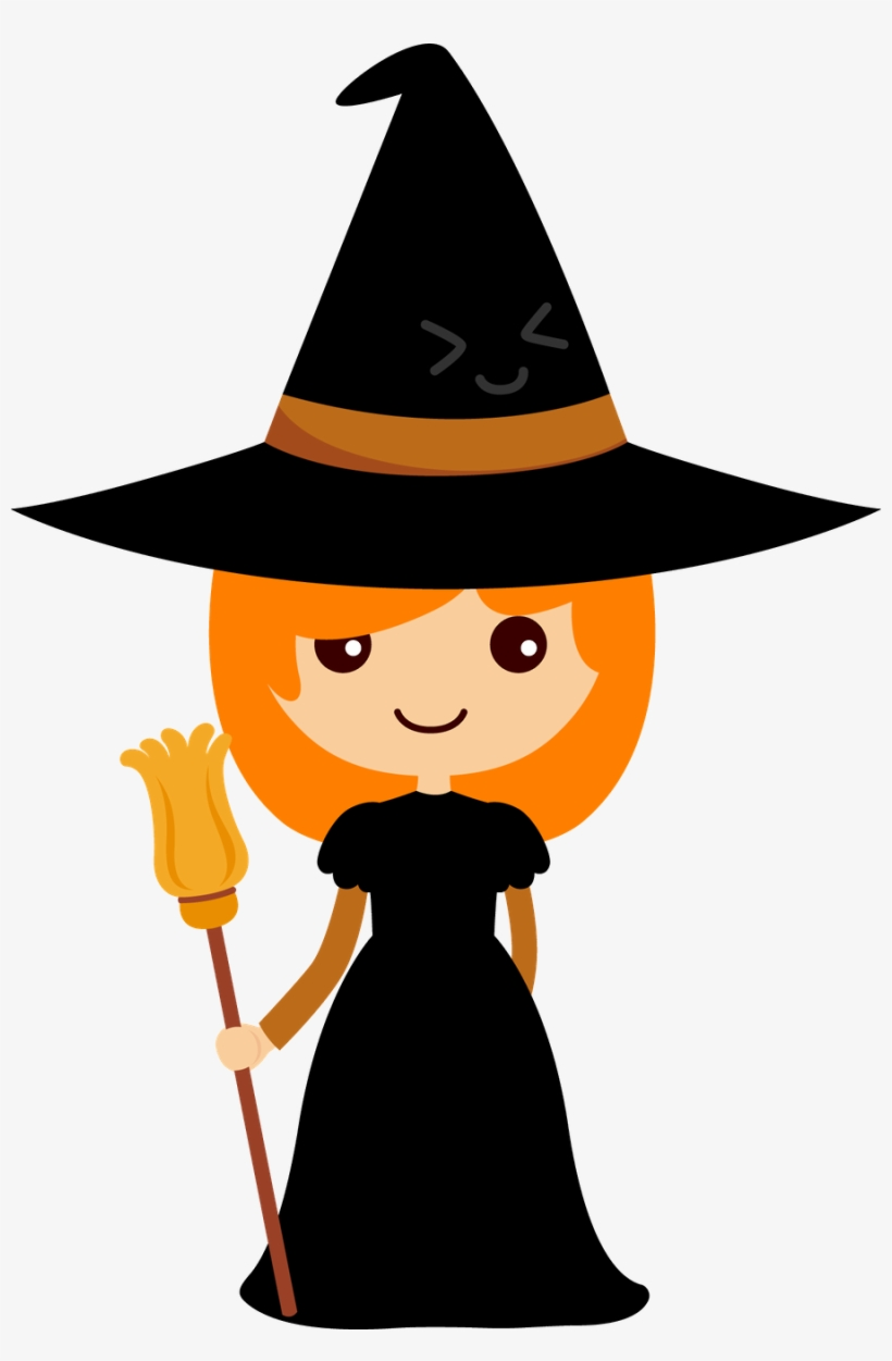 Witch clipart holloween. Cu watercolor halloween