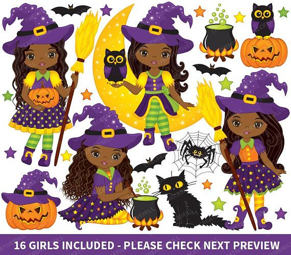 Witch clipart item. Halloween