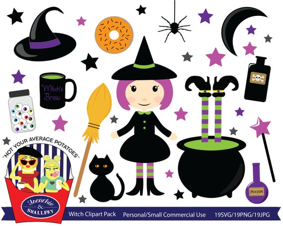 Pack halloween free small. Witch clipart item