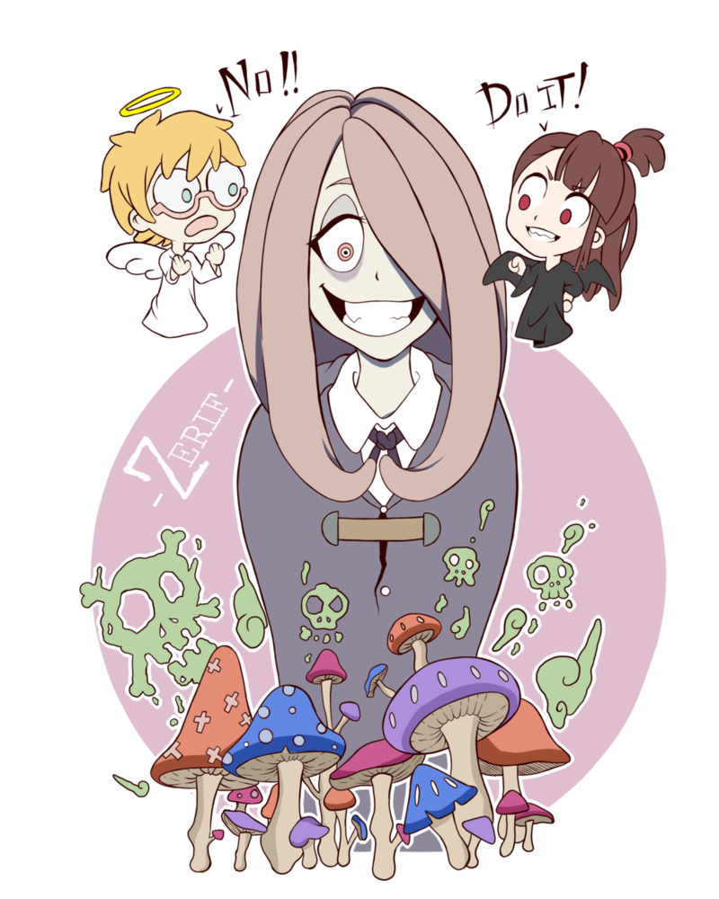 Witch clipart little witch. Sucy academia by jefri