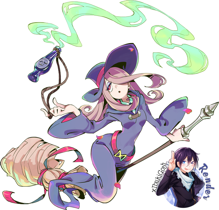 Witch clipart little witch. Render sucy academia