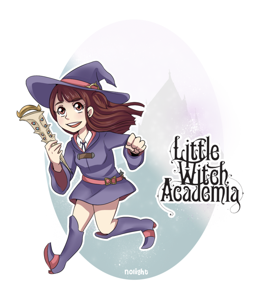 Chibi akko academia by. Witch clipart little witch