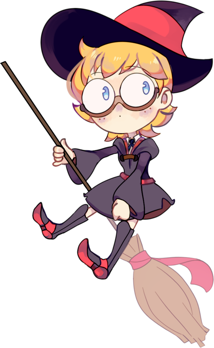 Witch clipart little witch. Academia lotte by parliy