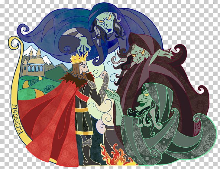Witch clipart macbeth. Lady three witches cawdor