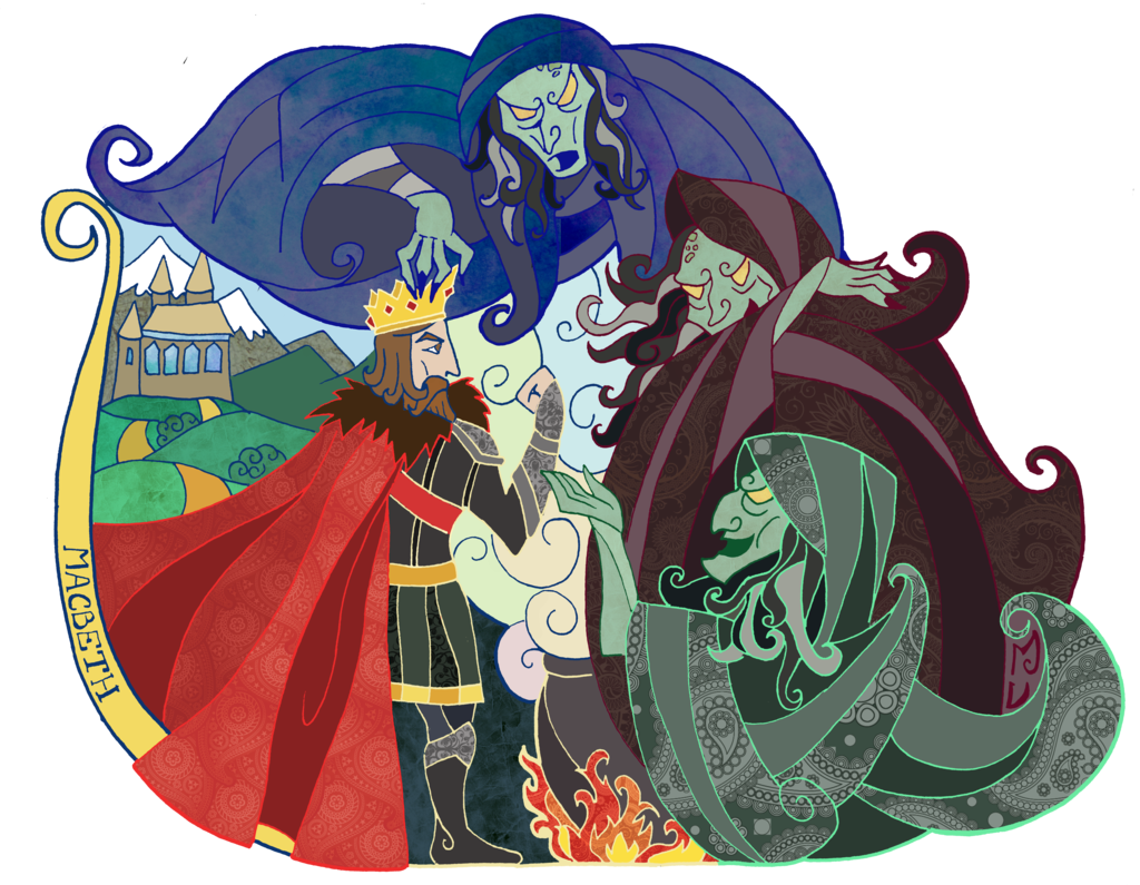 collection of three. Witch clipart macbeth