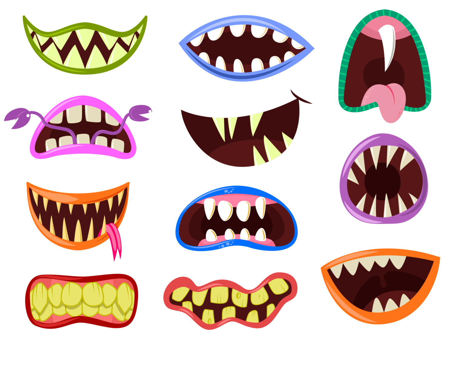 Witch clipart mouth. Halloween monster free download