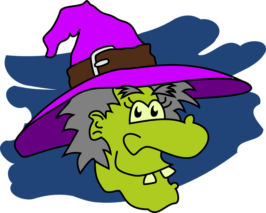 Witches green frames illustrations. Witch clipart obese