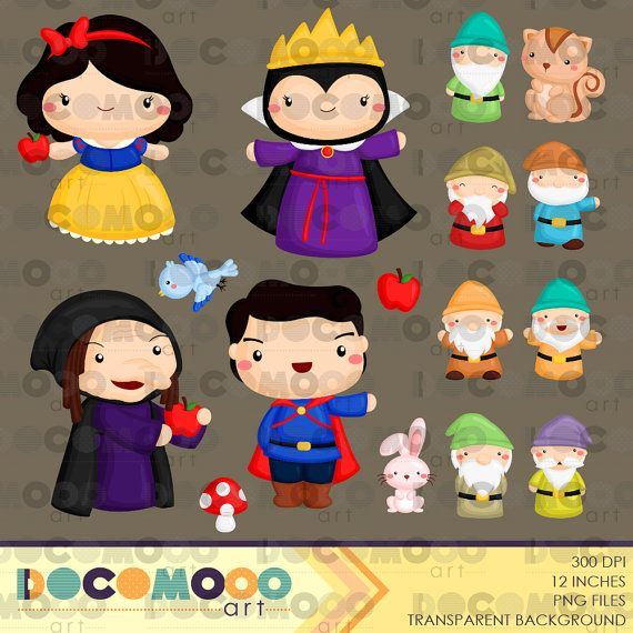 Snow white clip art. Witch clipart princess
