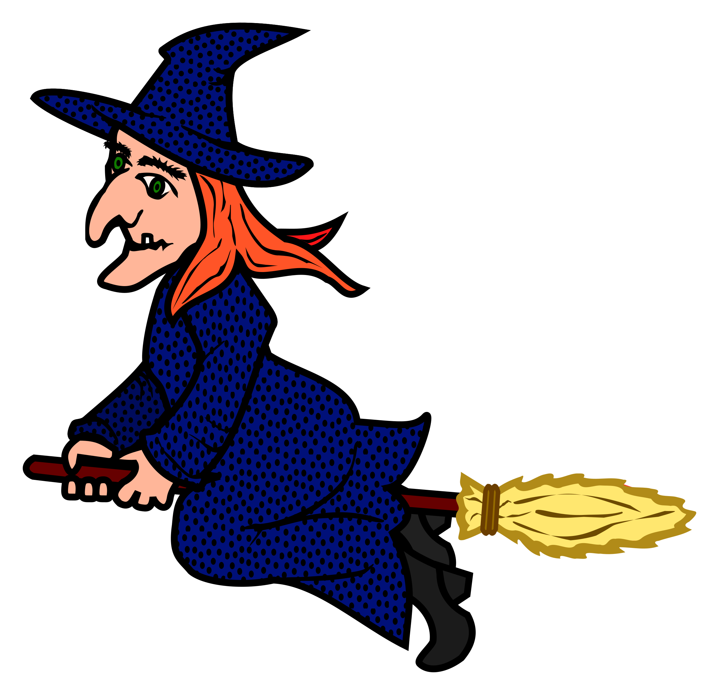 Coloured big image png. Witch clipart printable