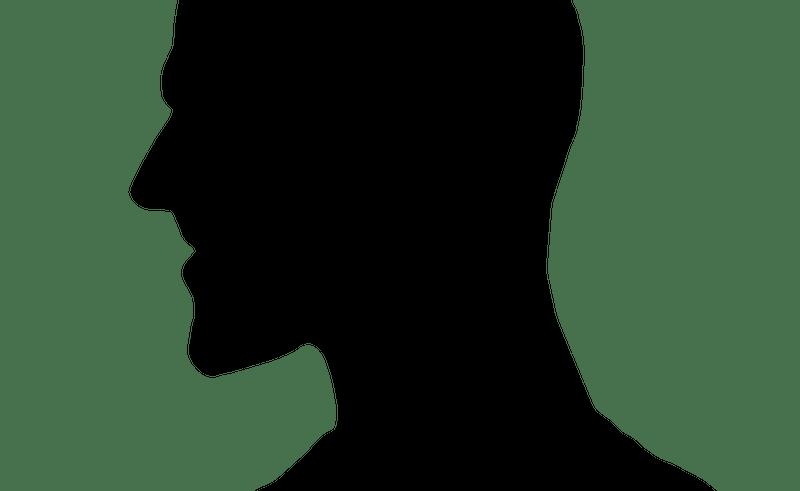 Witch clipart profile. Male face clip art
