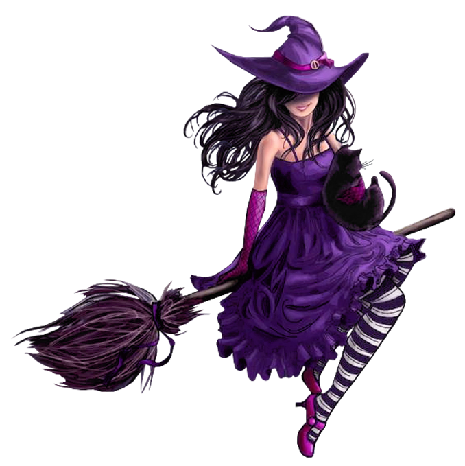 Halloween png picture happy. Witch clipart purple witch