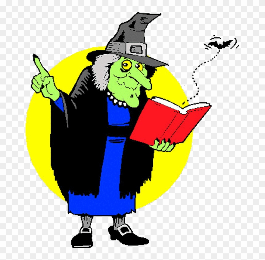 Witch clipart reading. Png download pinclipart