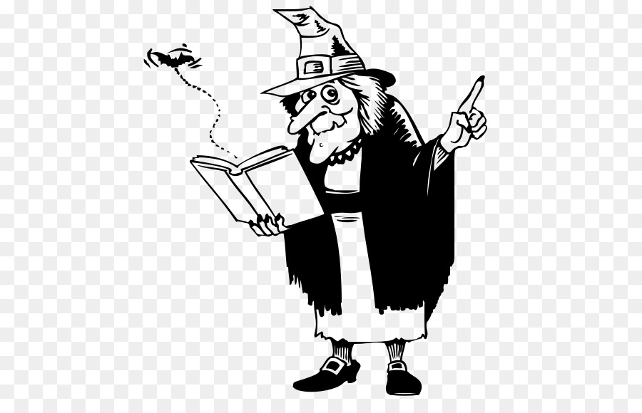 Witch clipart reading. Black and white book