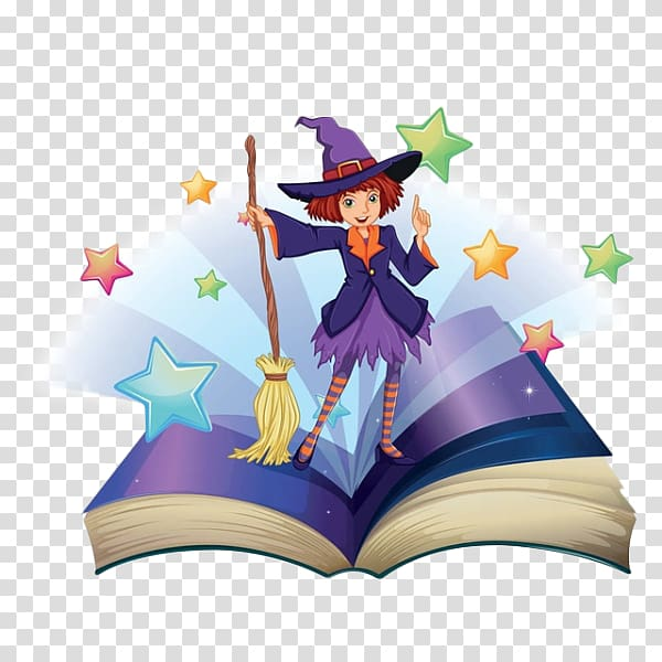Witch clipart reading. Magic broom png images