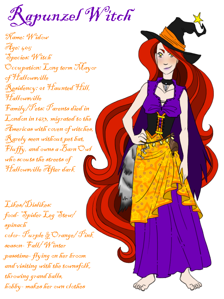 Widow rapunzel by sollinfaolan. Witch clipart red hair