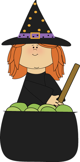 Stirring cauldron bulletin board. Witch clipart school