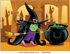 Royalty free image a. Witch clipart short