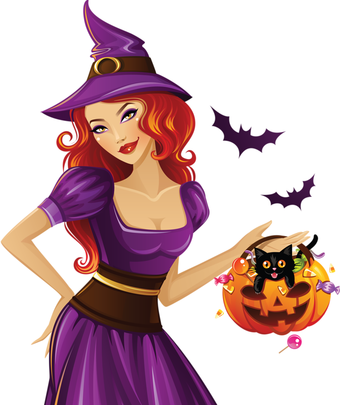 Halloween tubes png cornici. Witch clipart skirt