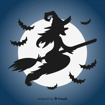 Free download clip art. Witch clipart sky