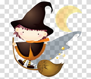 Witch clipart sky. Transparent background png cliparts