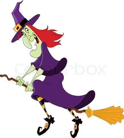 Witch clipart stick. A on broom clip