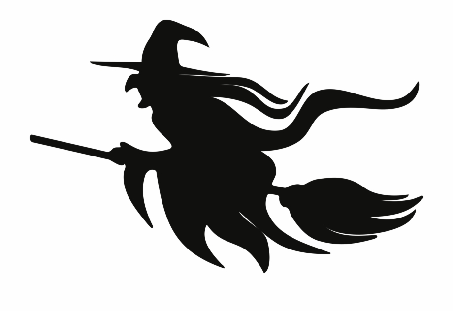 Witch clipart symbol. Black and white download