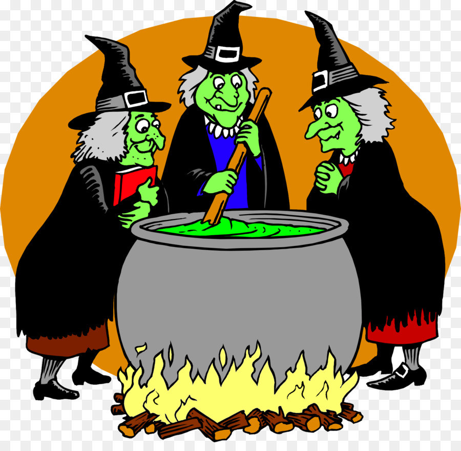 Cartoon halloween pumpkin . Witch clipart three witch