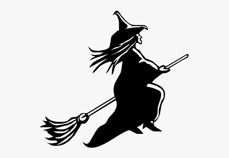 Witch clipart transparent background. Pumpkin carving