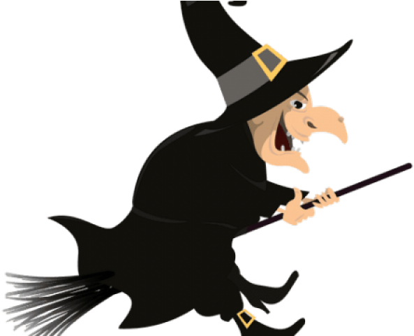 Halloween . Witch clipart transparent background